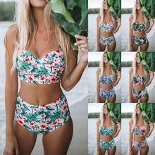 Bikini 2019 Sexy Womens Padded Push-up Bra Hight Waist Bikini Set Swimsuit Bathing Suit Swimwear Mujer High Waist Swimsuits