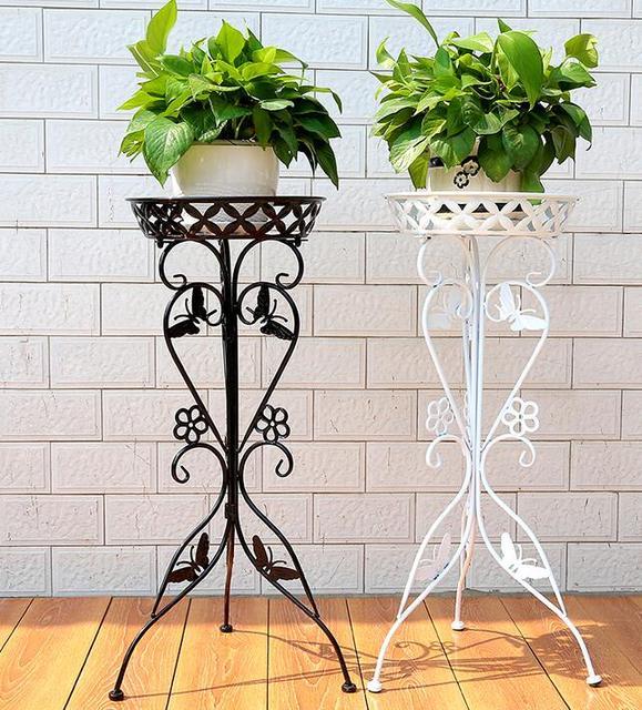 Wrought Iron Flower Money Plant Flower Single European Indoor Potted  Flowers Sitting Room Shelf,Plant