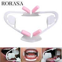 Abridor de boca Dental bucal Intraoral mejillas labio Retractor Prop herramienta de ortodoncia ajuste para la mayoría de los adultos boquilla 3D apoyo mordida pa