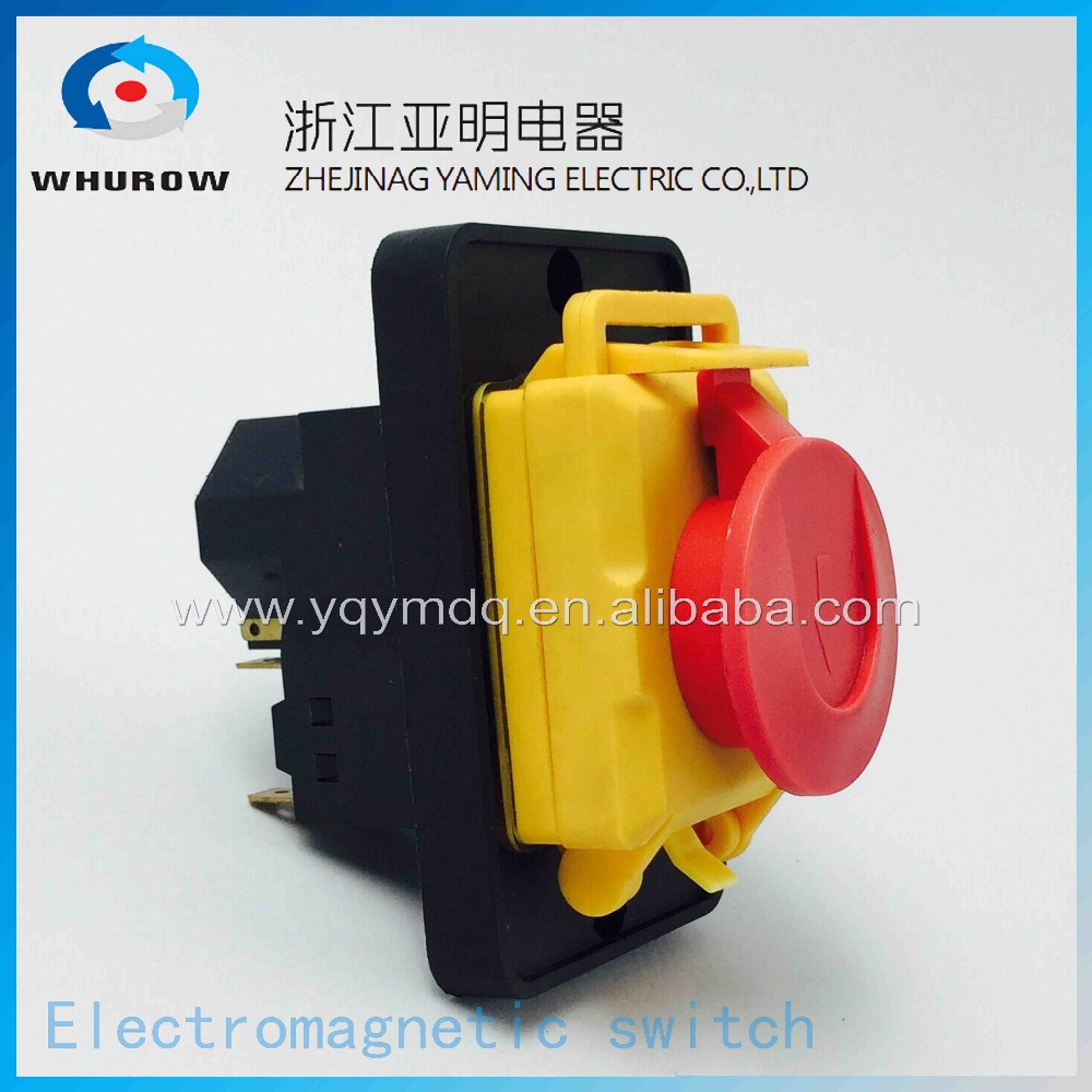 Electromagnetic switch 7 Pin On Off Push Button Protective cover Emergency stop Ignition switch 16A 230V YCZ4-A ignition momentary press push button switch ycz4 a emergency stop 7 pin ip55 protective cover on off red green sign brass feet