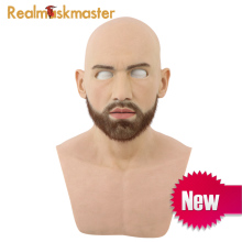 Realmaskmaster silicone adult full face mask party supplies fetish artificial fake skin halloween male latex realistic недорого
