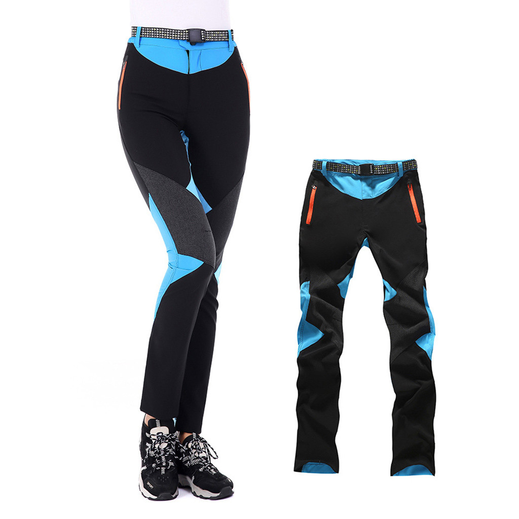 Women Ski Pants Outdoor Sport Long Pant Hiking Climbing Trousers Tactical Capris Straight Pantalones Waterproof Bottoms Spliced