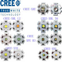 Original CREE 10W XML T6/10 W XML L2/XPE R3 3 W/XRE Q5 3 W/XTE R5 5 W/XPG2 R5 5 W/cálido blanco rojo verde azul amarillo