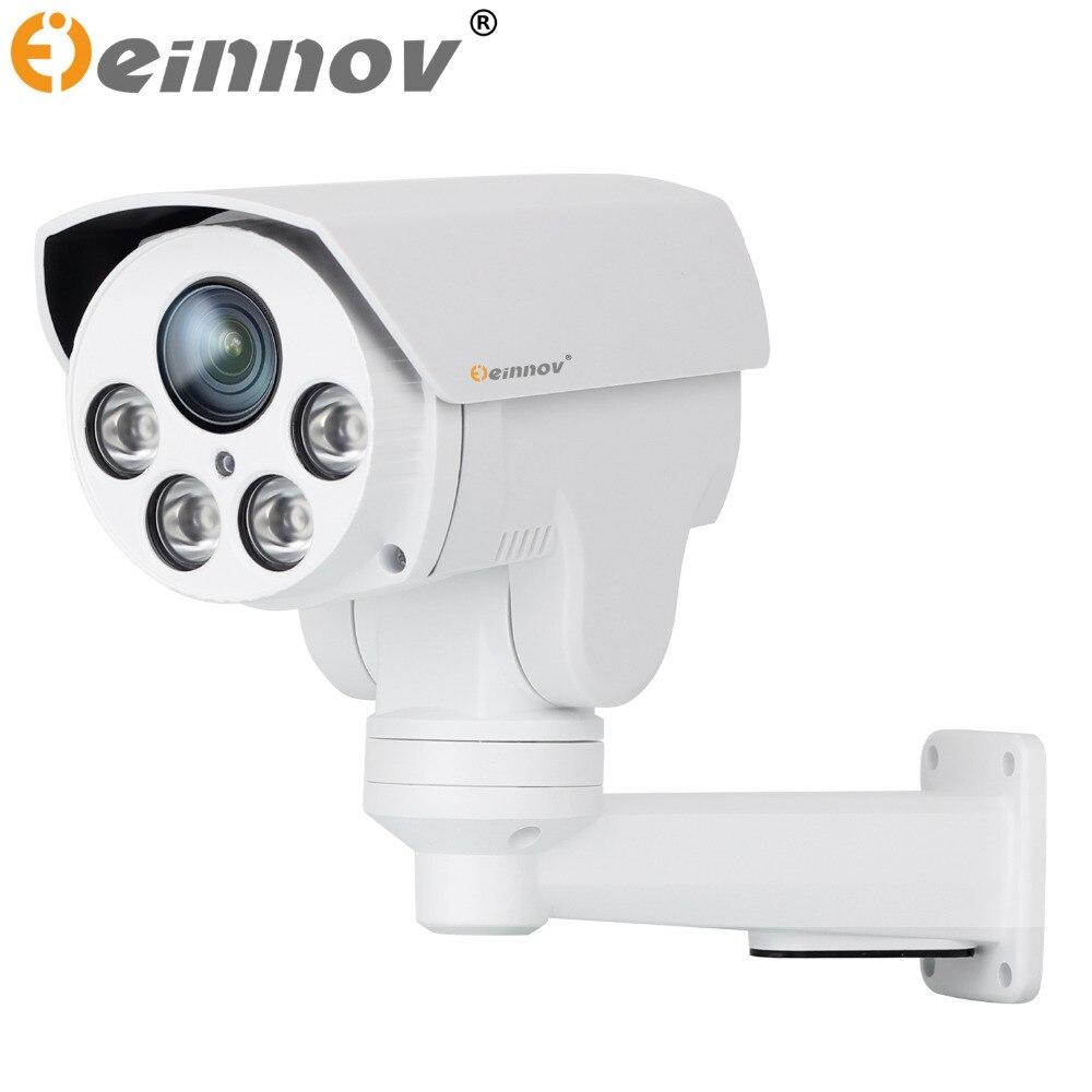 EINNOV POE PTZ CCTV IP Camera Outdoor Waterproof Security Surveillance Camera SD Card Slot Onvif SONY IMX322 1080P Optical Zoom ccdcam poe 960p ip camera waterproof 1 3 megepixel surveillance camera security equipment