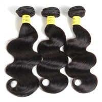 QueenLike cheveux produits 100% cheveux humains paquets 8-28 pouces Non Remy couleur 1b cheveux armure faisceaux brésilien vague de corps