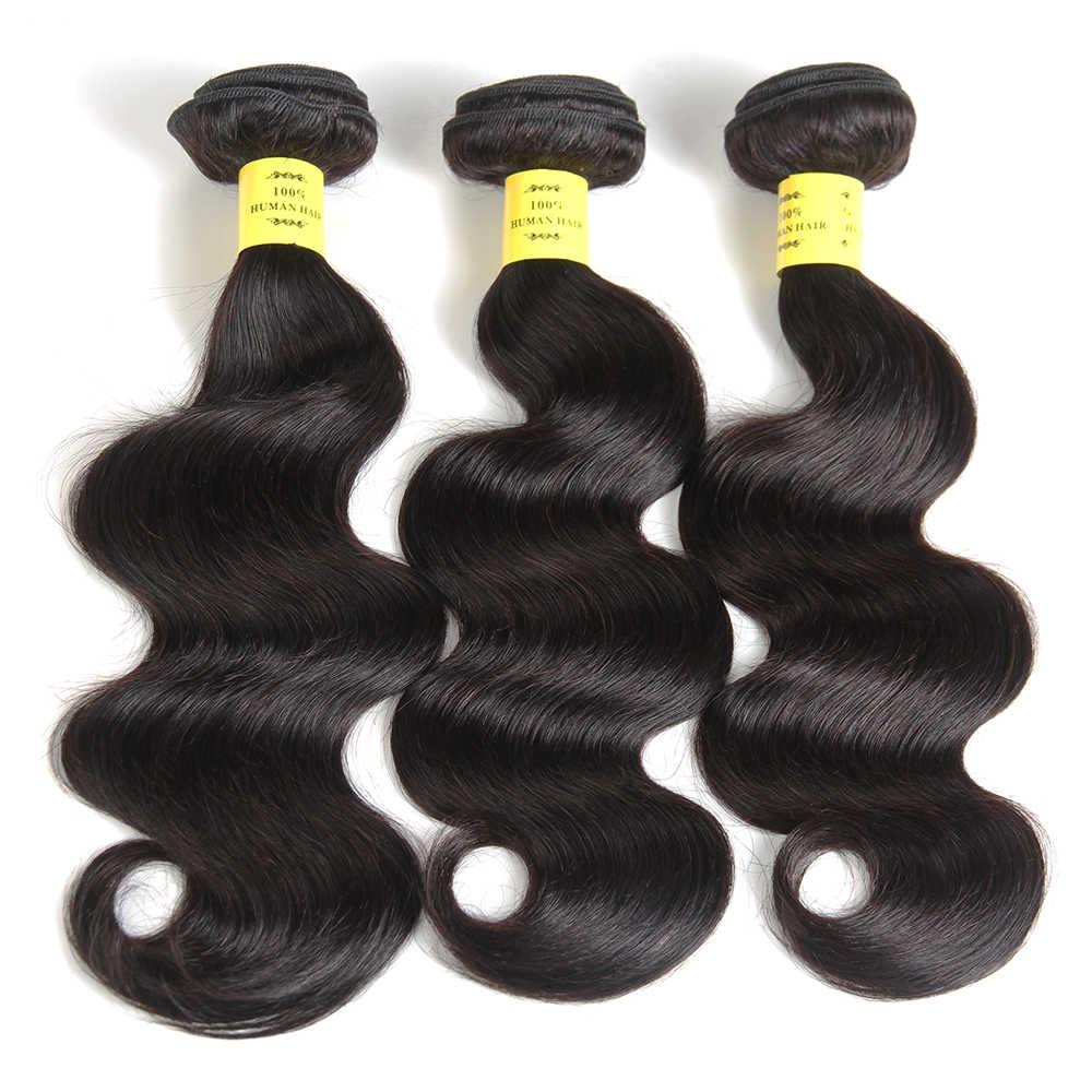 Как у королевы волосы продукты 100% человеческие волосы пучки 8-28 дюймов не Реми Цвет 1b волосы переплетения пучки бразильские волнистые