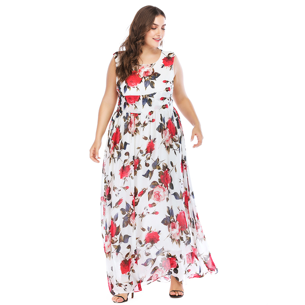 639b1f2e2f039 TUHAO Plus Size 5XL 4XL Boho Wrap Dress Summer Women Sexy Long Maxi Beach Dress  Floral Print Elegant Dresses Retro Dresses CM64