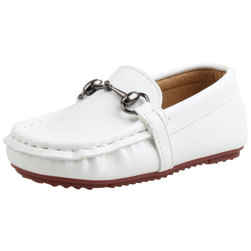 New Shoes For Children Genuine Leather Moccasins Boat Shoes For Boys Casual Flat Kids Shoe For Girls Soft (Toddler/Little Boys) 2016 new arrival fashion kids shoes pu leather children shoes for boys