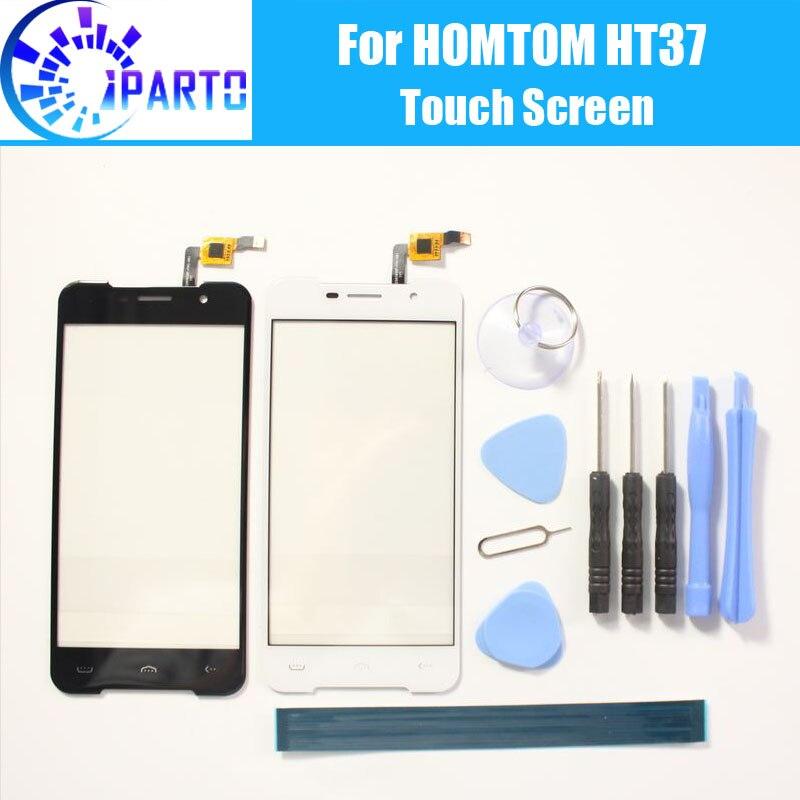 HOMTOM HT37 Touchscreen Panel 100% Garantie Original Digitizer Glasscheibe Touch Glas Ersatz Für HOMTOM HT37 5,0 ''+ werkzeuge