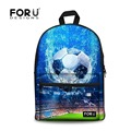 FORUDESIGNS Custom Children School Bags Vintage Men&Women 3D Ball Printing Backpack For College Student Teenage Mochila Book Bag