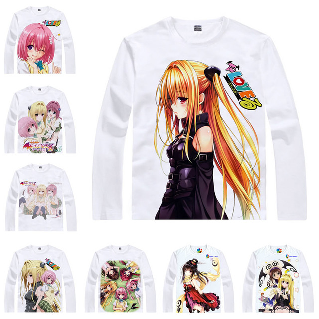 Coolprint Japanese Anime Shirt To Love Ru T Shirts Multi Style