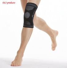 Высокой упругой дышащий баскетбол волейбол наколенники поддержка защиты и коленной чашечки здравоохранения бесплатная доставка # knee10(China (Mainland))