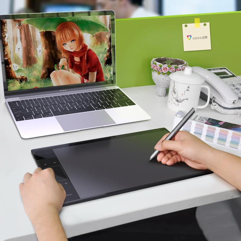 Connectable Phone VEIKK T30 10 x 6 inch Digital Drawing Tablet Ultra thin 5080LPI Graphic