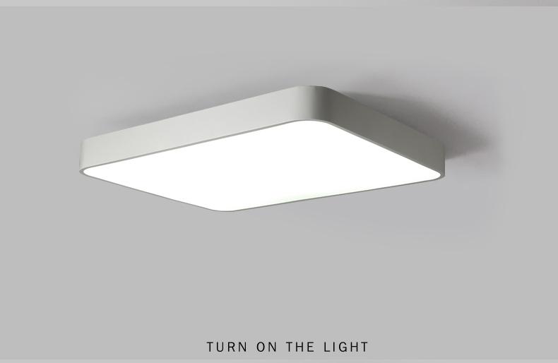 Moderne schwarz led decke lampe wohnzimmer küche decke lichter dekor