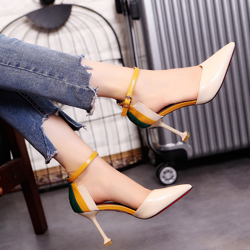 2018 Spring Autumn Women Shoes Pointed Toe Pumps Dress Shoes High Heels Boat Wedding Shoe Party Sexy leather shoes zapato hot 2017 spring autumn women pumps sexy gold silver high heels shoes fashion pointed toe wedding shoes party women shoes d01 t