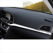 lsrtw2017 titanium black stainless steel car dashboard trims for hyundai elantra 2016 2017 2018 2019 2020