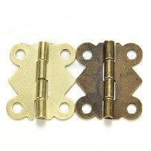 Мини-бабочка бронзовый ящика кабинет петли желтый коробка изделий ремонт ювелирных моды