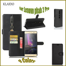 Leather Case For Lenovo Phab 2 Pro Card Slot Stand Holder Wallet Cover Phone Bag KLAIDO Mobile Phone Accessories Parts
