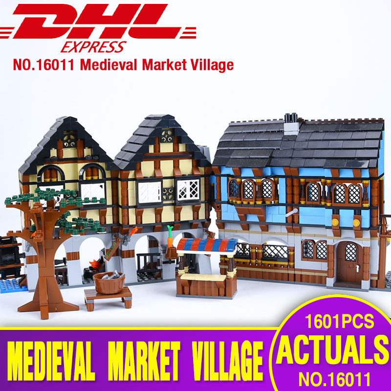 New Lepin 16011 1601Pcs Castle Series The Medieval Manor Castle Set Educational Building Blocks Bricks Model Toys Gifts 10193 lepin 16017 castle series genuine the king s castle siege set children building blocks bricks educational toys model gifts