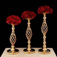 Stand Metal Candle Holder Wedding Centerpieces Gold Candlestick Vintage Flower Stand Wedding Center Table Decoration X8T014