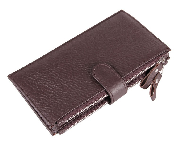 8057C Wholesale China Manufacturer JMD man wallet 100% genuine leather coffee color large capacity