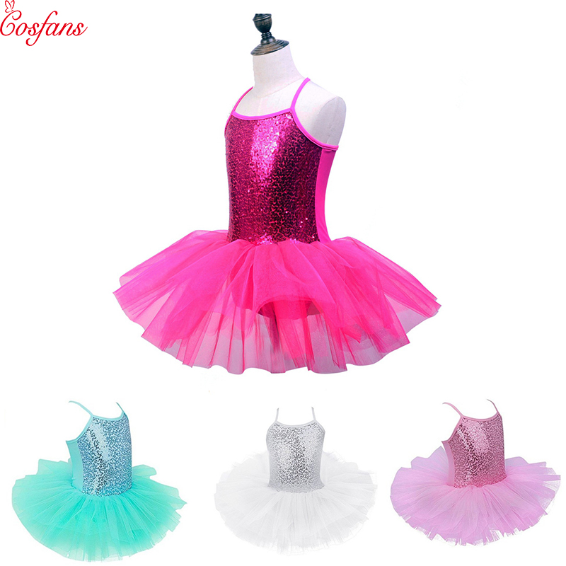 2019 New Kids Girls Ballet Dress Baby Children Cosplay Tutu Flower Dress Tulle Dancewear Clothing Ballerina Fairy Party Costumes