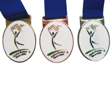 Struck Gold/Copper/Bronze Sport Medal with Imitation Hard Enamel k 200157