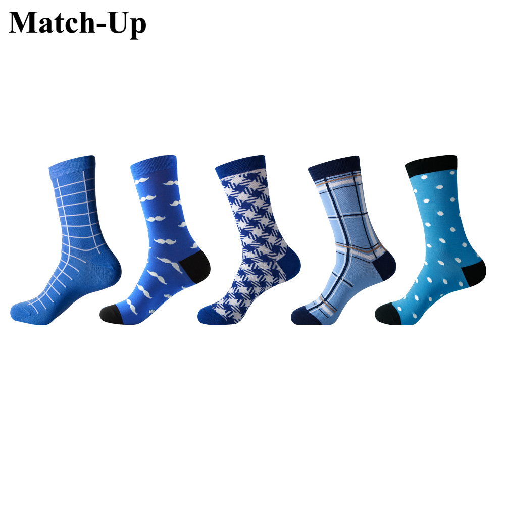 Underwear & Sleepwears Confident Match-up Mens Colorful Combed Cotton Socks Men Socks