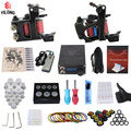 Professional Complete Tattoo Kit 2 Top  Machine Gun 10 tattoo tips 10 Needle Power Supply