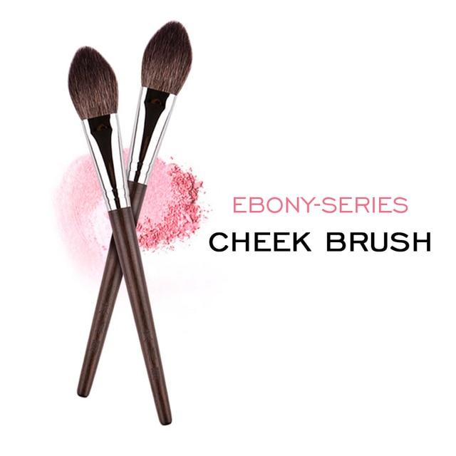MyDestiny Ebony-Series Cheek Brush - Tapered Precision Powder/Blush Face Brush 1