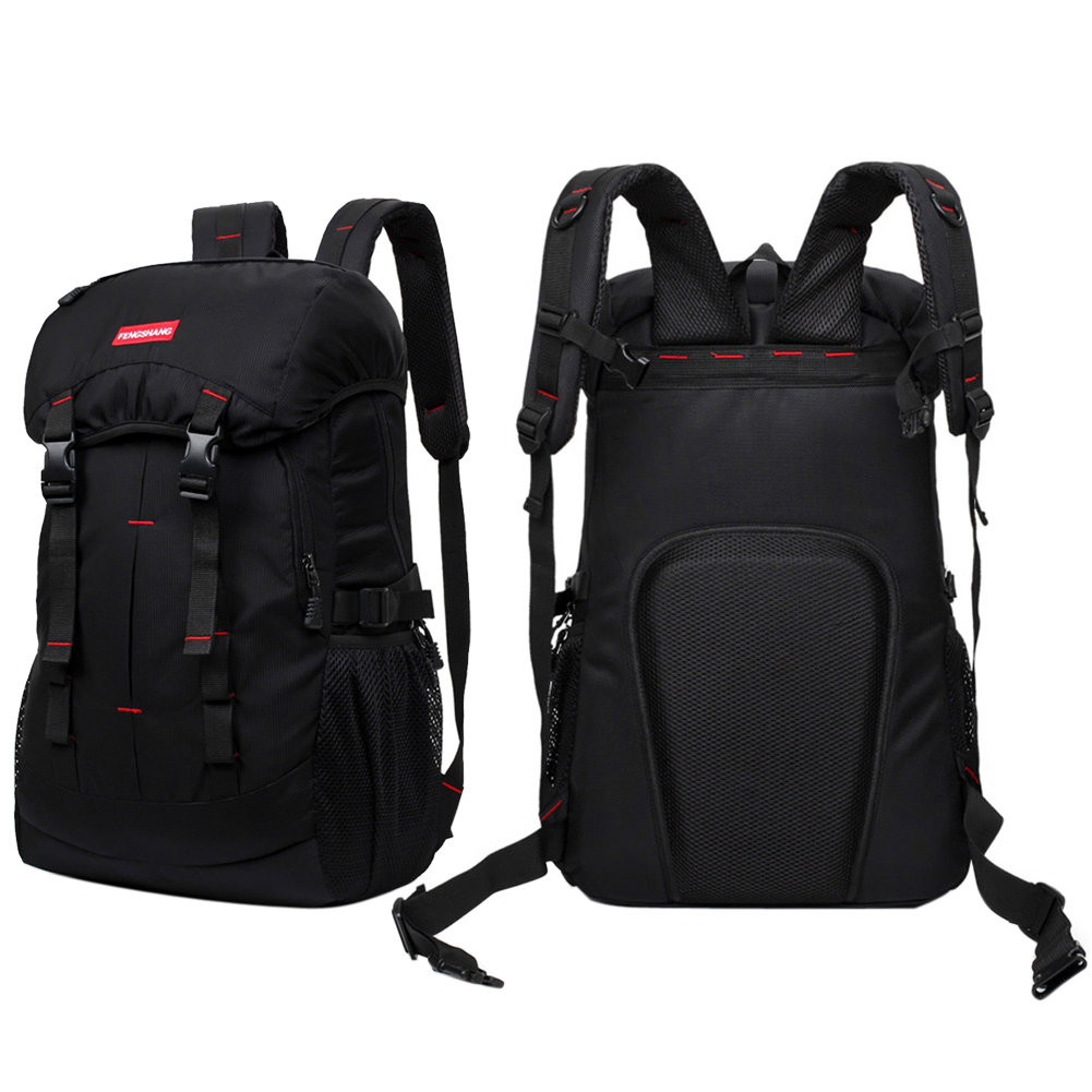 High Capacity Computer Bag Waterproof Cover Outdoor Backpack Double Buckle Travel Backpack Hiking Rucksack for 12-17 Inch laptop men 15 inch laptop business bag outdoor travel hiking backpack large capacity school daypack for tablet pc notebook computer