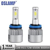 Oslamp H11 LED Headlight COB 72W Car Led Headlights Bulb Fog Light 6500K Auto Headlamp For