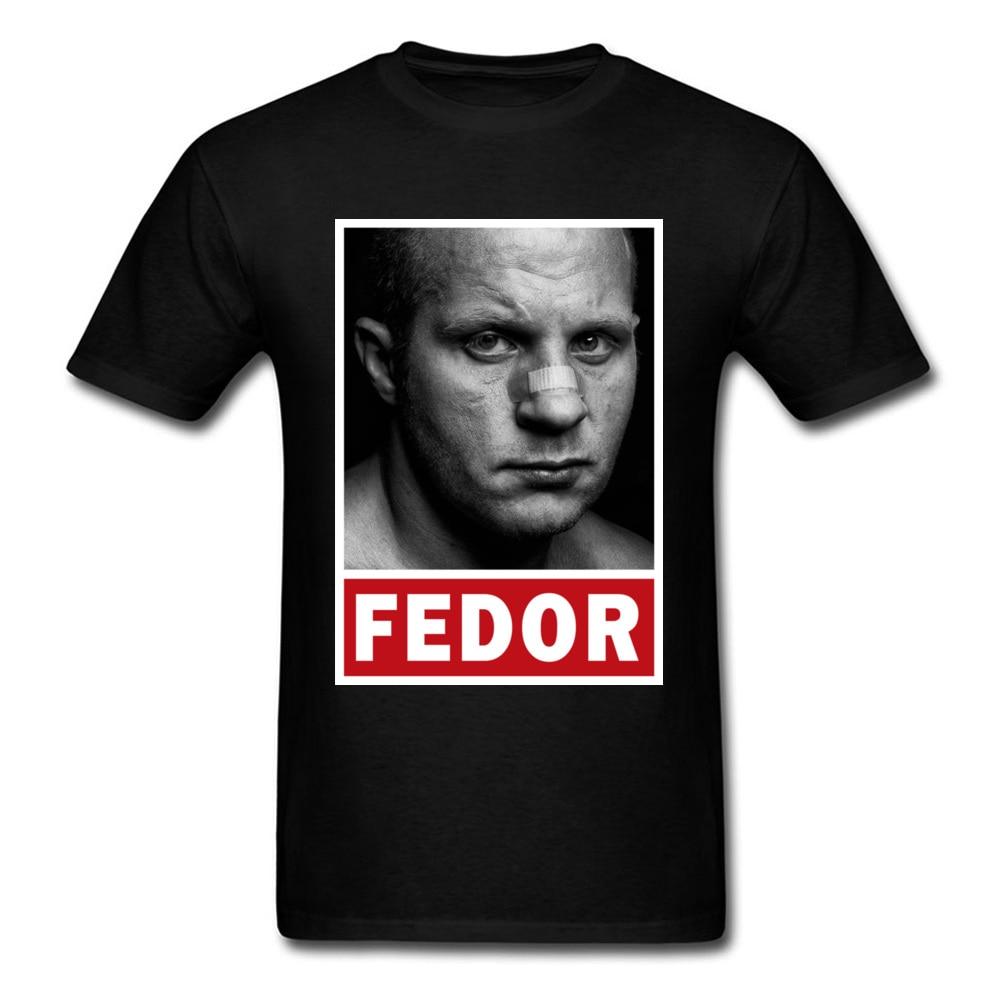 Fedor Emelianenko T Shirt Men Tshirt Black T-shirt 3D Tops Character Printed Clothing Street Style Tees Hip Hop Sweatshirt