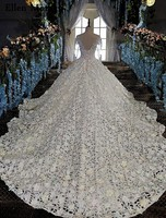 Elegant Lace Ball Gowns Wedding Dresses Corset See Through Long Sleeves Custom Made Real Photos Bridal Gowns 2019