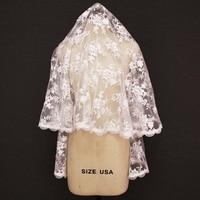 New Mantilla Lace Short Veil 1.5 Meters Wedding Veil Cover Face Bridal Veil WITHOUT Comb Velo de Novia