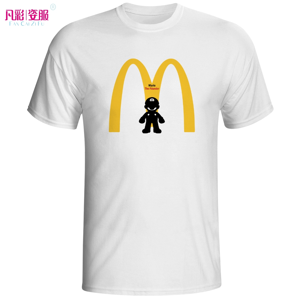 Mario Is The Real Founder T Shirt Parody Famous Brand Logo