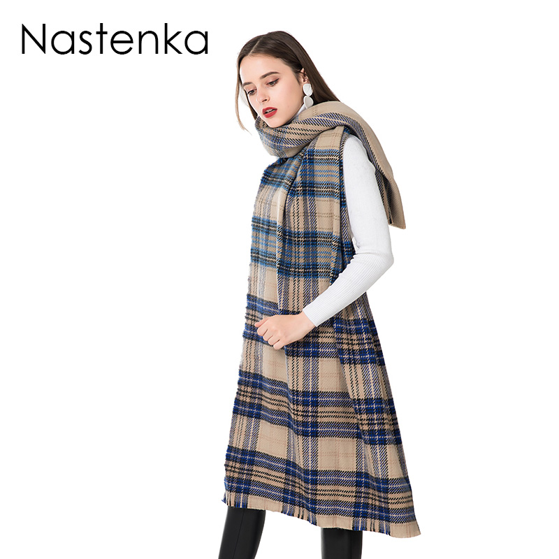 Oversized Women   Scarf   Winter Warm   Scarves   For Women Cashmere   Scarf   Shawl Plaid   Scarves     Wrap   Ladies Pashmina Female Shawls CM124