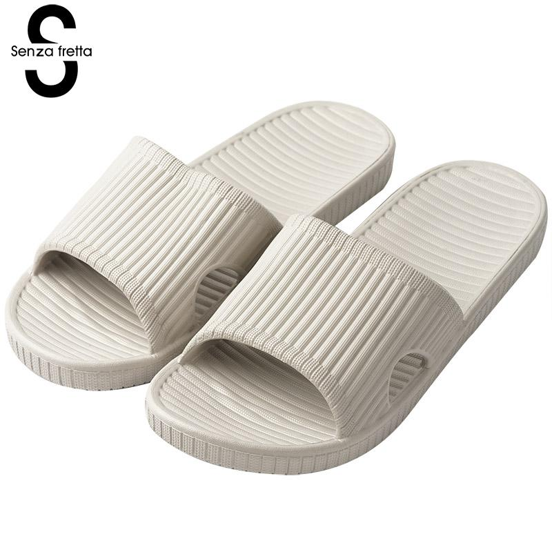 Senza Fretta Summer Men Slippers Platform Casual Home Slippers Indoor Bathroom Non-slip Eva Soft Bottom Non-slip Slippers Men pepe jeans
