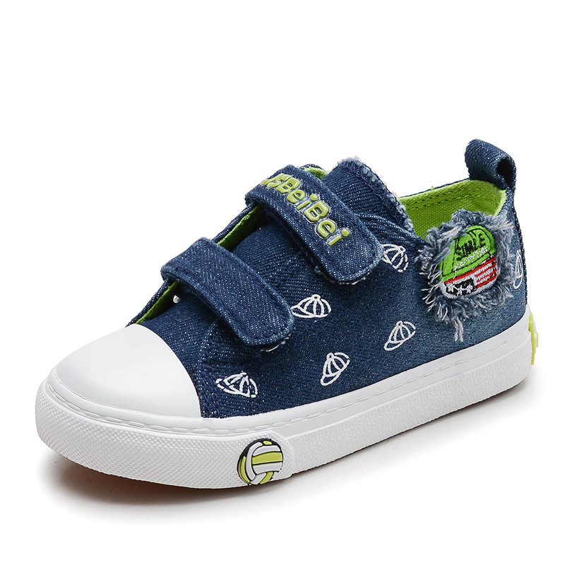 2018 Jean high quality canvas children sneakers cow muscle Patch girls boys toddlers fashion excellent kids shoes footwear