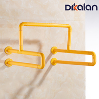Dikalan Yellow Straight Toilet Safety Rails for Disabled Elderly People Grab Bars Bathroom Anti Slip Stainless Steel Handle