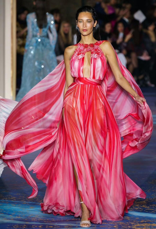 TOP qualité sur mesure dames tapis rouge robe perles élégant soirée robe de soirée célébrité mode robe Vestidos
