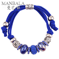 MANBALA 2016 New Ceramic Alloy Female Romantic Charm Bracelet On Hand Jewelry Gift Rhinestone Women's Bracelets H00AD