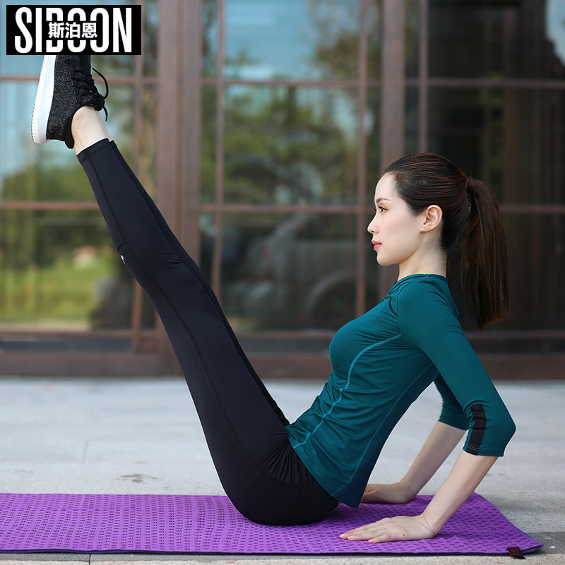 3 pièces femmes Fitness Yoga ensemble T-Shirt & soutien-gorge & pantacourt pantalon Sport ensemble Gym vêtements Sport porter formation costume séchage rapide