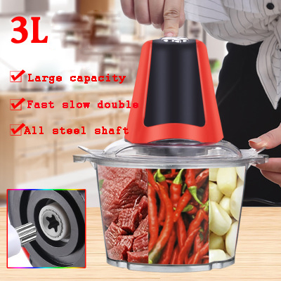 2L 3L Powerful Meat Grinder Multifunctional Household Electric Food Processor Meat Cutter Blender Chili Garlic Chopper Electric