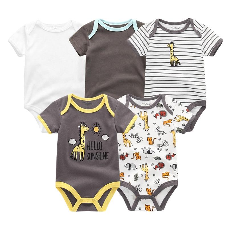 HTB11A1yeMmH3KVjSZKzq6z2OXXaZ 5PCS/LOT Unisex Top Quality Baby Rompers Short Sleeve Cottom O-Neck 0-12M Novel Newborn Boys&Girls Roupas de bebe Baby Clothes