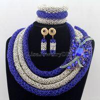 Массивные бусины набор украшений для костюма нигерийские Свадебные африканские Ювелирные изделия Набор индийское ожерелье для невесты на