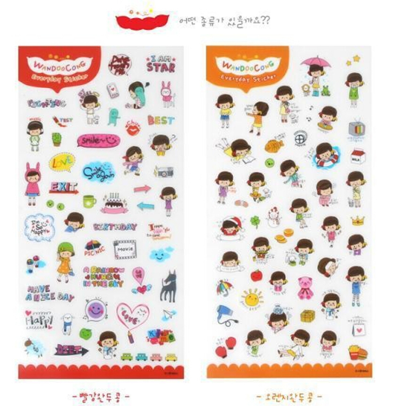 6 pcs lot lovely mini cartoon print memo sticker notebook album calendar memo pad sticker diary notes scrapbook paper sticker in stickers from toys