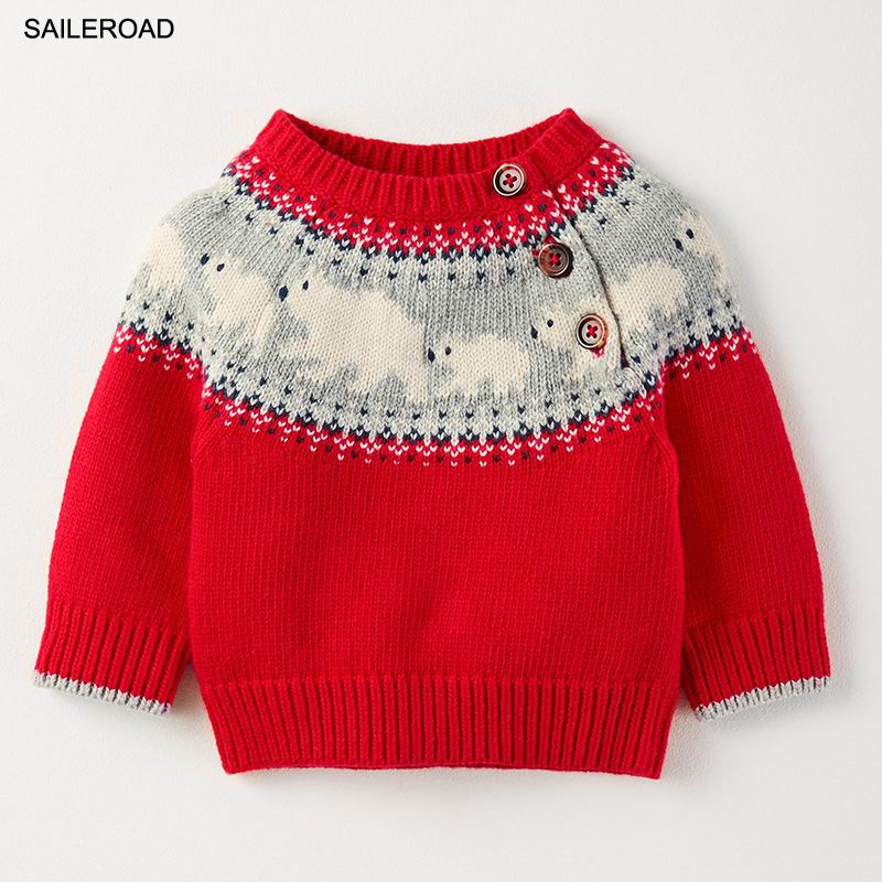 9d18362c8252 SAILEROAD 18Months To 7Years Boys Girls Sweater Autumn Winter Baby ...