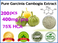 100% effective fat burners pure Garcinia Cambogia extracts (75% HCA) weight loss, 200 pcs for 60 days supply
