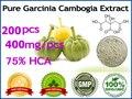 100% queimadores de gordura eficaz pura extratos Garcinia Cambogia (HCA 75%) a perda de peso, 200 pcs para 60 dias de abastecimento
